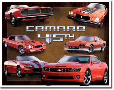 Tin Sign, Camaro 45th Anniv.