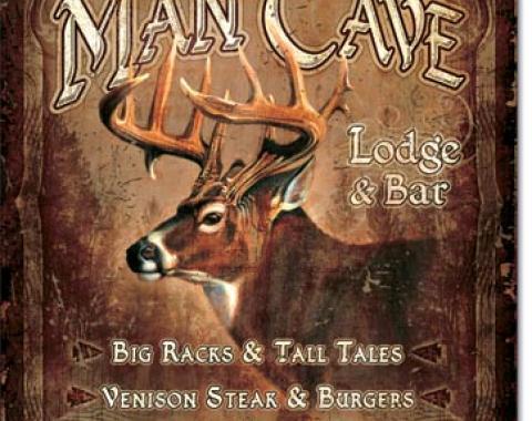 Tin Sign, JQ - Man Cave Lodge
