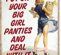 Tin Sign, Big Girl Panties