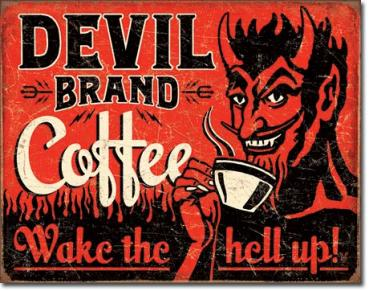 Tin Sign, Devil Brand Coffee