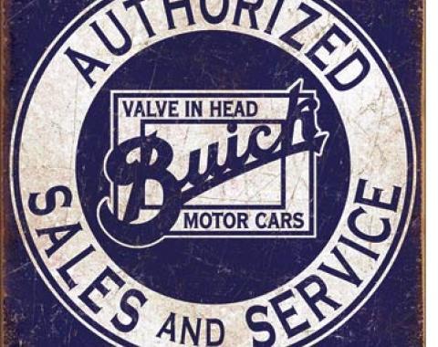 Tin Sign, Buick - Valve in Head