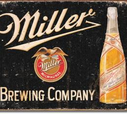 Tin Sign, Miller Brewing Vintage