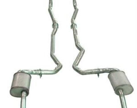Corvette Exhaust System, Dual 350 Automatic 2 Inch, 1975-1979