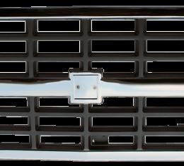 Key Parts '88-'91 Chevrolet Grille Center, Chrome/Silver, w/Dual H/L 0851-045