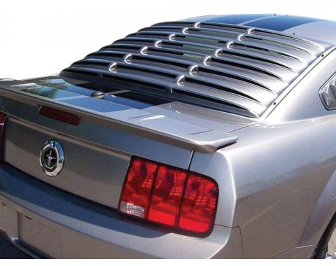 Mustang Rear Window Louver, Black ABS Smooth, 2005-2014