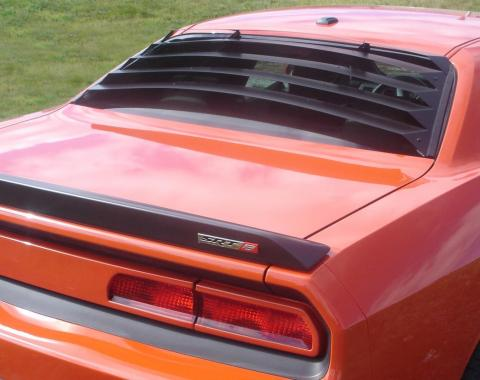 Challenger Rear Window Louver, Textured ABS, 2008-2016