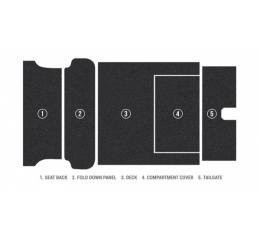 Chevy Carpet Kit, Cut Pile, Nomad & Station Wagon, Cargo Area Only, 1955-1957
