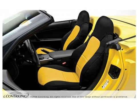 Corvette Coverking Genuine CR-Grade Neoprene Seat Cover, Without Power Passenger Seat, Sport Coupe & Hardtop 1997-2004