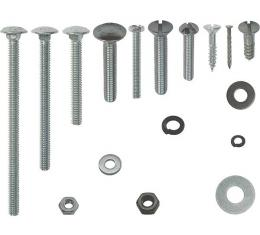 Model A Ford Top Wood Mounting Fastener Kit - Tudor Sedan -411 Pieces - Use With TWC101