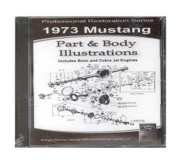 1973 Mustang Part & Body Illustrations On CD - For Windows Operating Systems Only