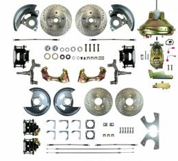"67-9 4-Wheel Disc Brake Conversion, 11""  Booster, 2"" Drop, non-Staggered Rear Shocks"