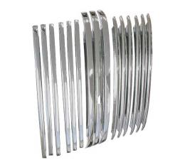 Grille Bar Set - Chrome - 15 Pieces - Foreign Fair Quality - Ford Pickup Truck