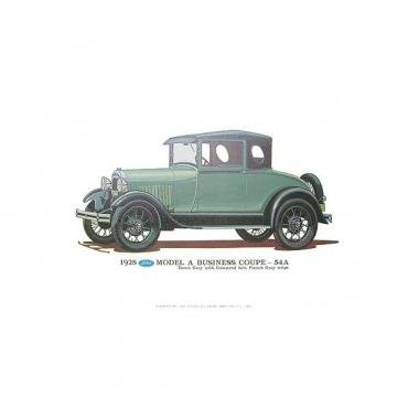 Model A Print - 1928 Ford Business Coupe (54A) - 12 X 18 - Unframed