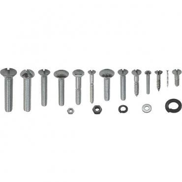 Model A Ford Pickup Top Wood Mounting Fastener Kit - ClosedCab Pickup - 255 Pieces - For A65502 Wood Kit