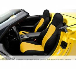 Corvette Z06, ZR1, Grand Sport Coverking Neoprene Seat Cover, With Manual Passenger Seat With Side Airbag, 2006-2011