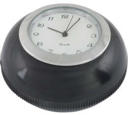 Gear Shift Knob - Floor Shift - Black Plastic With Quartz Clock Insert - Ford