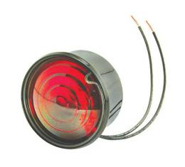 Model T Ford Tail Light - Right - Powder-coated - Black - 6Volt Bulb Installed - US Made