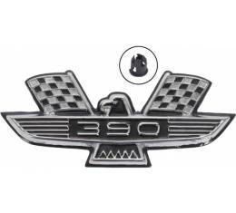 Galaxie Fender Emblem, 390 Bird, Black & Chrome, 1963-1964