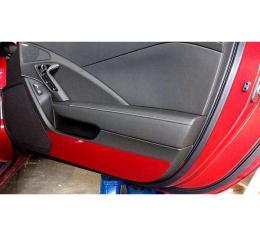 Corvette Painted Body Color Door Kick Plates, 2014-2017