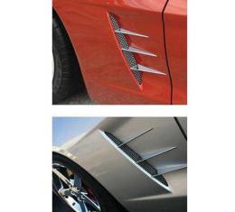 Corvette Side Fender Spear Set With Screens, 2005-2013