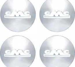 GMC Truck Hub Cap Set, Polished Stainless Steel, With WhitePainted Details, 1947-1953