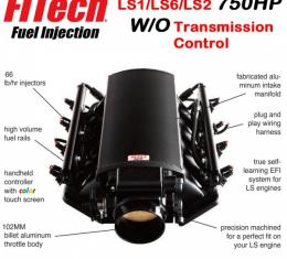 Ultimate LS Fuel Injection Kit for LS1/LS2/LS6 - 750HP w/o Trans. Control   FiTech - 70003