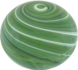 Gear Shift Knob - Floor Shift - Glass - Green Swirl - Mushroom Shape - Ford