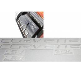 Corvette C6 LS7 Fuel Rail Letter Kit, 2006-2013 | Silver