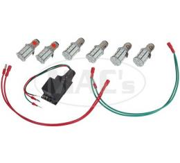 Shelby Mustang/Thunderbird/Cougar Sequential LED Taillight Kit, Deluxe, 1964-1969