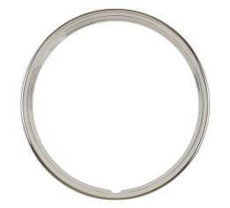 Wheel Trim Ring - Stainless Steel - 16 Ribbed - 4 Ribs - Ford