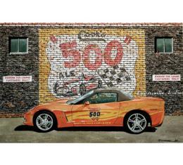 Corvette Atomic Pace Car, Fine Art Print By Dana Forrester, 11x17