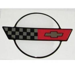 "Corvette C4 3D Domed Logo Decal 3.25"" X 2.25"", 1984-1990"