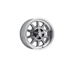 Mustang 17 x 7 GT7 Alloy Wheel, 5 on 4.5 BP, 4.25 BS, Machined / Clear Coat 1967-68