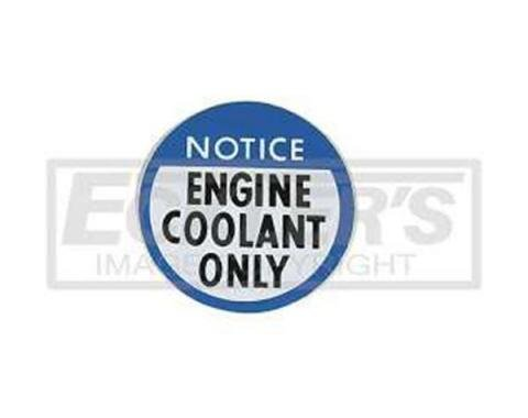 Nova Engine Coolant Notice Decal, 1978-1979