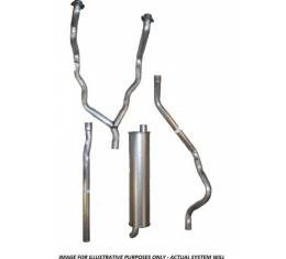 Exhaust System, Single Without Resonators, 1963 Th