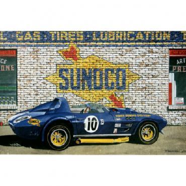 Corvette Grand Sport One, Fine Art Print By Dana Forrester, 11x17