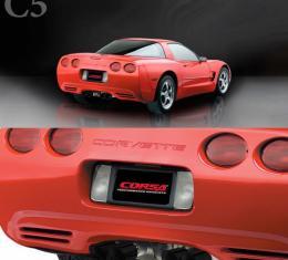 "Corvette 2.5"" Axle Back, Twin 3.5"" Black Pro-Series Tips, 1997-2004"