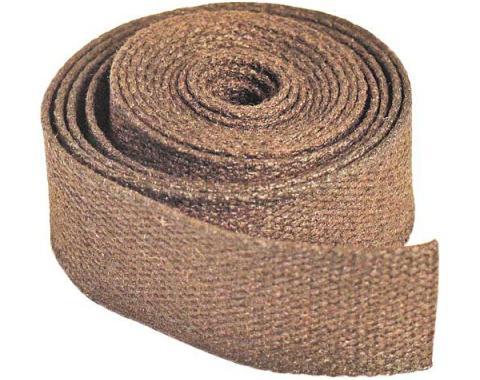 Model A Ford Running Board Bracket Anti-Squeak Welt - 4 Foot Roll Of 1/16 X 3/4 Woven Fabric
