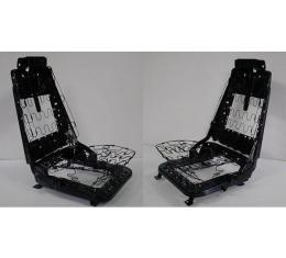 Firebird Bucket Seat Frames, With Tracks, Complete, 1969