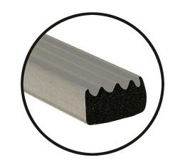Universal Door Seal - Ribbed - 5/8 X 3/8 X 20' Roll - Peel & Stick Adhesive Backing - Ford & Mercury