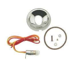 Turn Signal Adapter Kit - Stainless Steel - With Turn Signals - With Both 6 & 12 Volt Bulbs - Ford