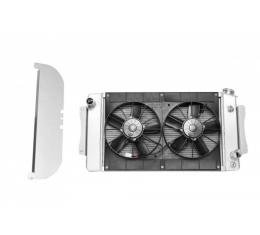 C&R Racing Chevy Aluminum Performance Radiator Module, For Automatic Transmission, 1955-1957