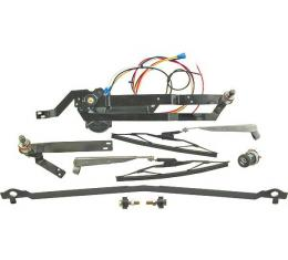 Complete Electric Wiper System - Clean Wipe - 12 Volt - Early 37 Ford Sedan & Ford Coupe