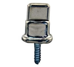 Model T Ford Side Curtain Fastener - Common Sense - Nickel - Screw Type - Double