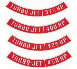 Chevy Truck Air Cleaner Emblem, Turbo Jet, 1947-1987
