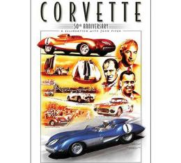 Corvette 50th Anniversary Montage Poster