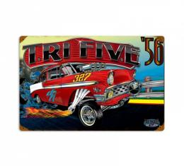 Chevy Metal Sign, 56 Gasser
