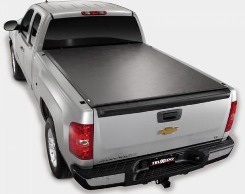 Truxedo Lo-Pro QT Tonneau Bed Cover, Chevy Or GMC Truck, 8'Bed, With Factory Installed Track System, Black, 2007-2013