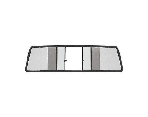 Ford Pickup Truck Sliding Rear Window - Dark Gray Tinted Glass - 55-5/16 Wide X 13-3/16 High