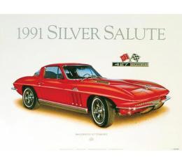 1966 Corvette Rally-Red Print By Hugo Prado
